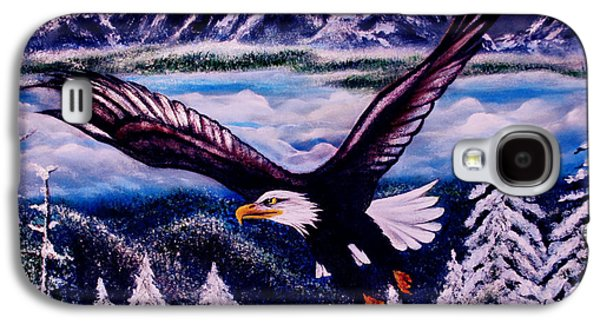 Eagle Paintings Galaxy S4 Cases - Shiloh Galaxy S4 Case by Adele Moscaritolo