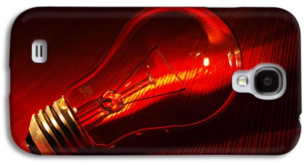 Red Abstract Glass Art Galaxy S4 Cases - Shimmer Galaxy S4 Case by Tom Druin
