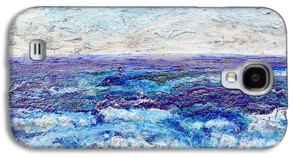Beach Landscape Reliefs Galaxy S4 Cases - Shining Sea Galaxy S4 Case by Regina Valluzzi