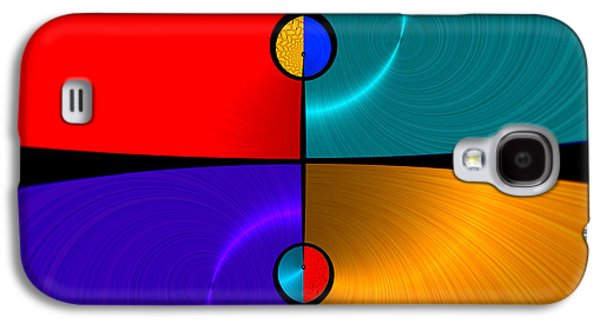 Color Block Galaxy S4 Cases - Shiny 1 - for metallic paper Galaxy S4 Case by Wendy J St Christopher