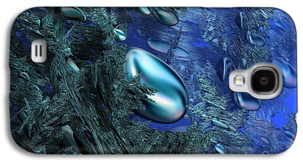 Alga Galaxy S4 Cases - Shiny blue pebbles Galaxy S4 Case by Gaspar Avila