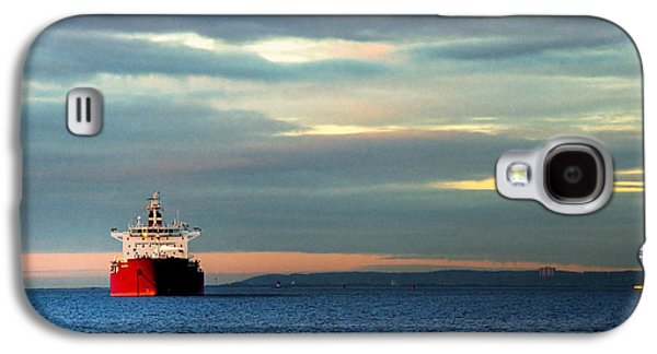 Water Vessels Galaxy S4 Cases - Ship - Anchored on the Edge of Light Galaxy S4 Case by Gary Heller