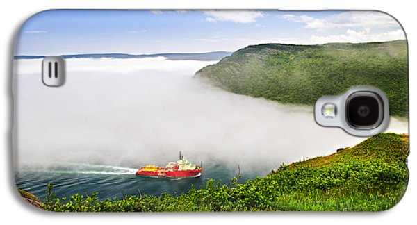 Foggy Ocean Galaxy S4 Cases - Ship entering the Narrows of St Johns Galaxy S4 Case by Elena Elisseeva
