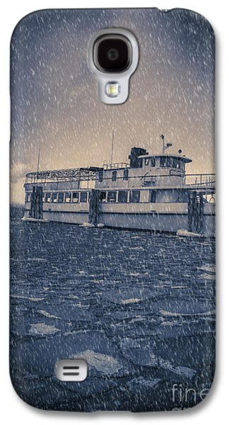 Stormy Weather Galaxy S4 Cases - Ship in a snowstorm Galaxy S4 Case by Edward Fielding