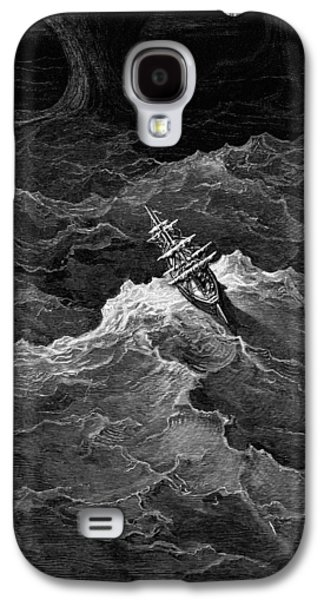 Ship In Stormy Sea Galaxy S4 Case by Gustave Dore