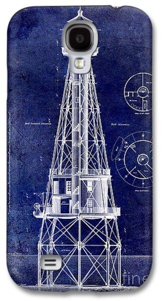 Recently Sold -  - Light Galaxy S4 Cases - Ship Shoal Light House Blueprint Galaxy S4 Case by Jon Neidert