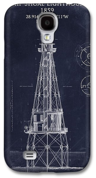 Recently Sold -  - Light Galaxy S4 Cases - Ship Shoal lighthouse blueprint art print Galaxy S4 Case by Sara Harris
