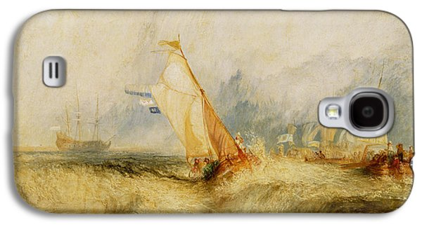 Posters On Paintings Galaxy S4 Cases - Ships a Sea Getting a Good Wetting Galaxy S4 Case by Joseph Mallord