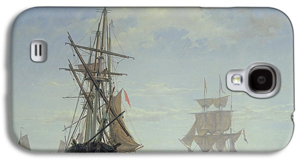 Sailboats In Harbor Galaxy S4 Cases - Ships in a Dutch Estuary Galaxy S4 Case by WA Van Deventer