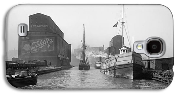 Recently Sold -  - Transportation Photographs Galaxy S4 Cases - Ships in the harbor Galaxy S4 Case by Stefan Kuhn