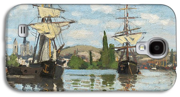 Ships Riding On The Seine At Rouen Galaxy S4 Case by Claude Monet