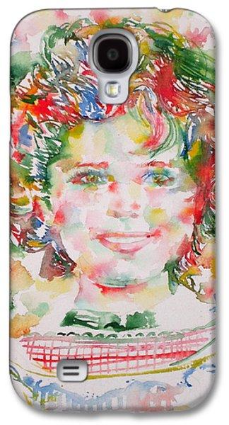 Shirley Temple - Watercolor Portrait.1 Galaxy S4 Case by Fabrizio Cassetta