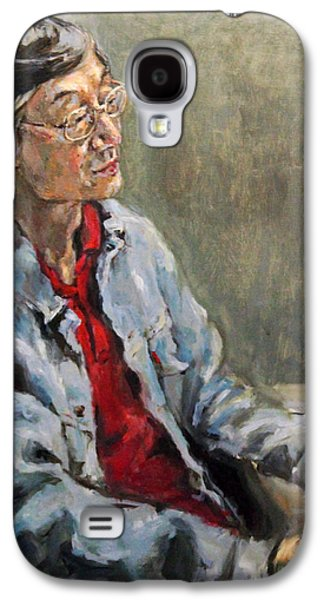 Becky Kim Paintings Galaxy S4 Cases - Shiwoo Park Galaxy S4 Case by Becky Kim