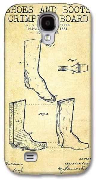 Shoe Digital Art Galaxy S4 Cases - Shoes and Boots Crimping Board Patent from 1881 - Vintage Galaxy S4 Case by Aged Pixel
