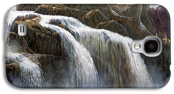 Western Art Digital Art Galaxy S4 Cases - Shohola Falls Galaxy S4 Case by Gregory Perillo