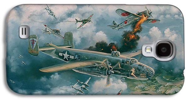 Dogfight Galaxy S4 Cases - Shoot-Out Over Saigon Galaxy S4 Case by Randy Green