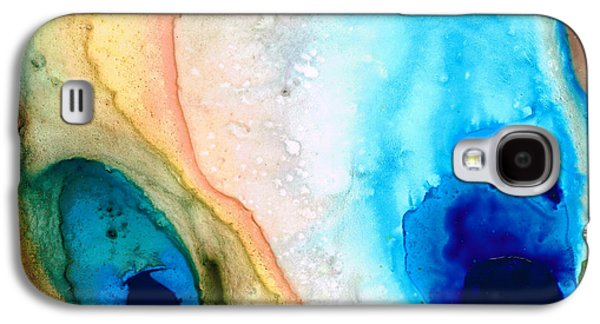 Inspired Paintings Galaxy S4 Cases - Shoreline - Abstract Art By Sharon Cummings Galaxy S4 Case by Sharon Cummings