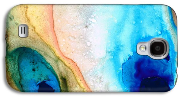 Earth Tones Galaxy S4 Cases - Shoreline - Abstract Art By Sharon Cummings Galaxy S4 Case by Sharon Cummings