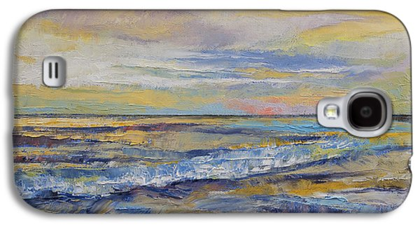 Sunset Abstract Galaxy S4 Cases - Shores of Heaven Galaxy S4 Case by Michael Creese