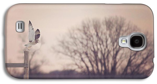 Flying Galaxy S4 Cases - Short Eared Owl at Dusk Galaxy S4 Case by Carrie Ann Grippo-Pike