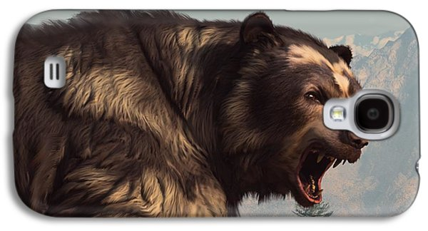 Growling Galaxy S4 Cases - Short Faced Bear Galaxy S4 Case by Daniel Eskridge