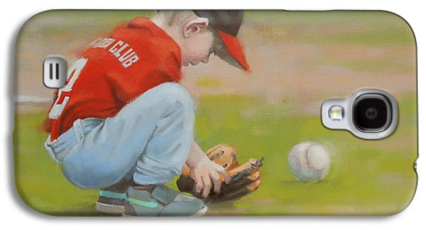 Baseball Glove Paintings Galaxy S4 Cases - Short Shortstop Galaxy S4 Case by Todd Baxter