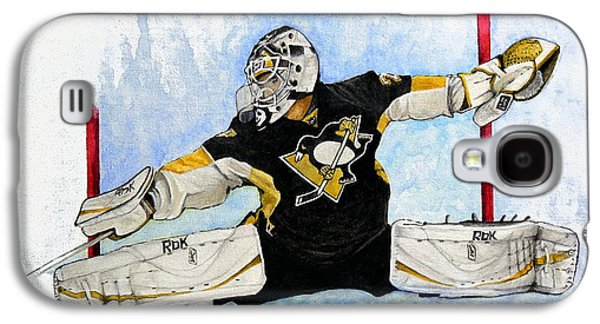 Goaltender Paintings Galaxy S4 Cases - Shot ...Save Galaxy S4 Case by William Walts