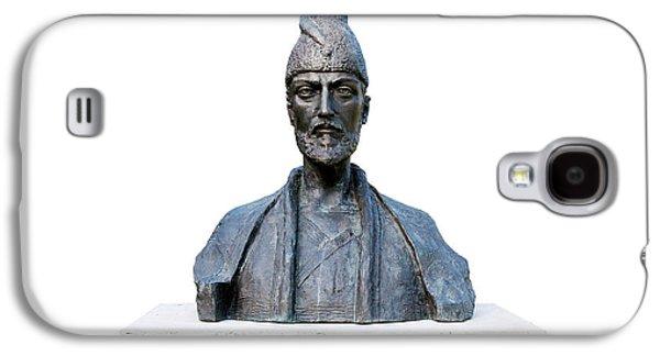 Statue Portrait Galaxy S4 Cases - Shota Rustaveli Galaxy S4 Case by Fabrizio Troiani