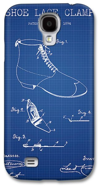 Shoe Digital Art Galaxy S4 Cases - Show Lace Clamp Patent from 1894 - Blueprint Galaxy S4 Case by Aged Pixel