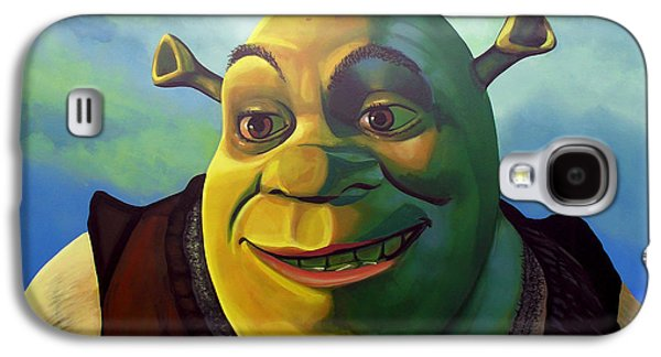 Animation Paintings Galaxy S4 Cases - Shrek Galaxy S4 Case by Paul Meijering
