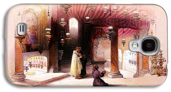 Bethlehem Galaxy S4 Cases - Shrine of the Nativity Bethlehem April 6th 1839 Galaxy S4 Case by Munir Alawi