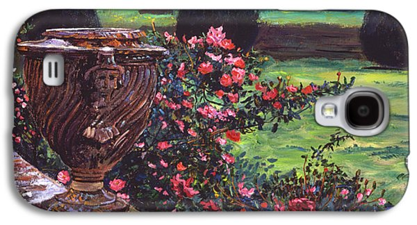 Somerset Galaxy S4 Cases - Shrub Roses In Somerset Galaxy S4 Case by David Lloyd Glover