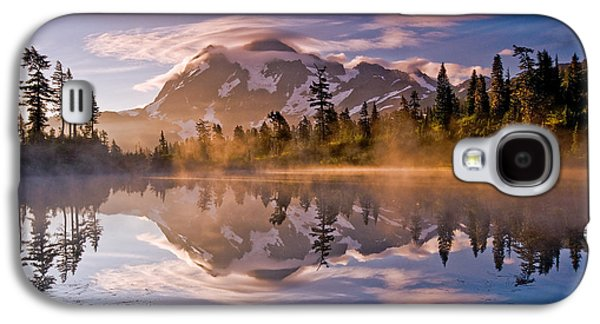 Landscapes Photographs Galaxy S4 Cases - Shuksan Sunrise Galaxy S4 Case by Darren  White