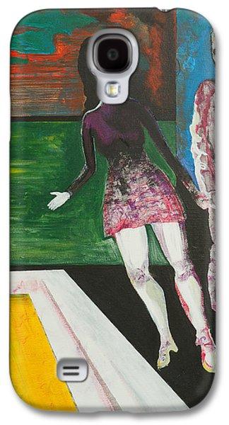 Dance Floor Paintings Galaxy S4 Cases - Shy Guy Dance Floor Galaxy S4 Case by Eric Beverly