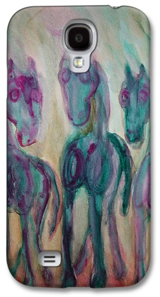 Component Paintings Galaxy S4 Cases - Shy Horse Triangle Galaxy S4 Case by Hilde Widerberg