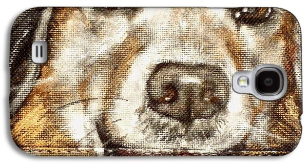 Dog Close-up Paintings Galaxy S4 Cases - Sibby Galaxy S4 Case by Carol Russell