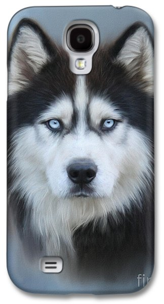 Siberian Husky Galaxy S4 Case by Lena Auxier