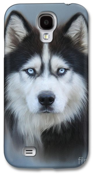 Dogs Digital Galaxy S4 Cases - Siberian Husky Galaxy S4 Case by Lena Auxier