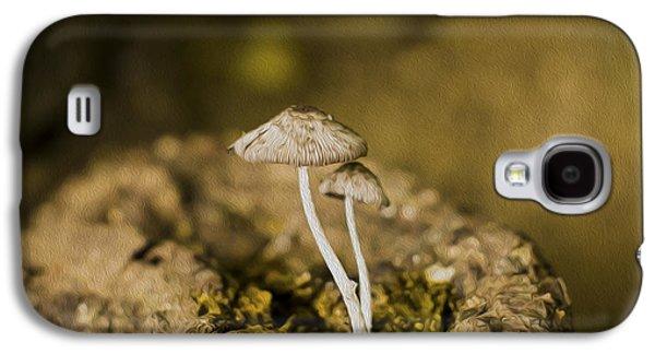 Mushroom Digital Art Galaxy S4 Cases - Siblings Galaxy S4 Case by Aged Pixel