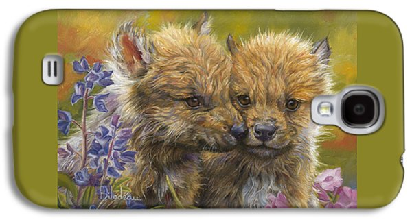 Puppies Galaxy S4 Cases - Siblings Galaxy S4 Case by Lucie Bilodeau