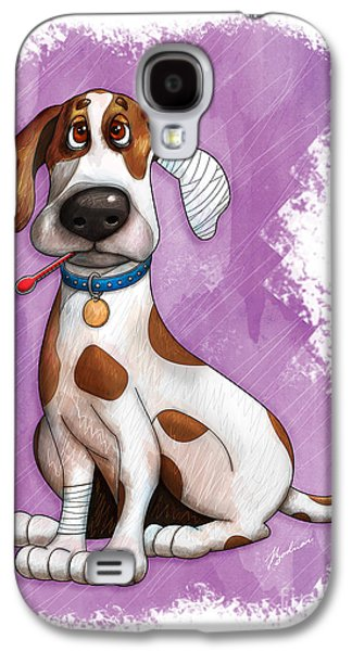 Puppy Digital Art Galaxy S4 Cases - Sick Puppy Galaxy S4 Case by Gary Bodnar