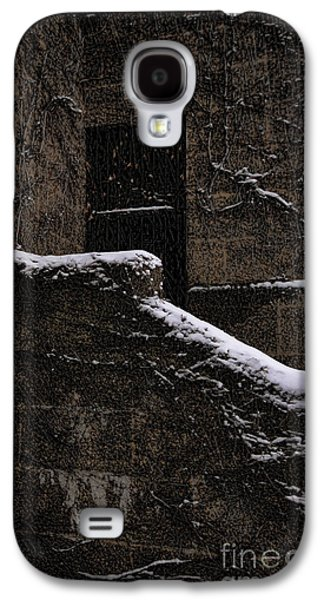 Creepy Galaxy S4 Cases - Side door Galaxy S4 Case by Jasna Buncic