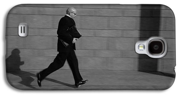 Business Galaxy S4 Cases - Side Profile Of A Businessman Running Galaxy S4 Case by Panoramic Images