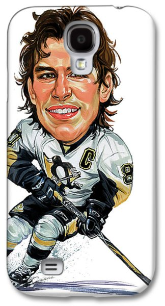 Canadian Sports Paintings Galaxy S4 Cases - Sidney Crosby Galaxy S4 Case by Art