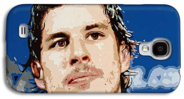 Stanley Cup Paintings Galaxy S4 Cases - Sidney Crosby Galaxy S4 Case by Dennis Nadeau