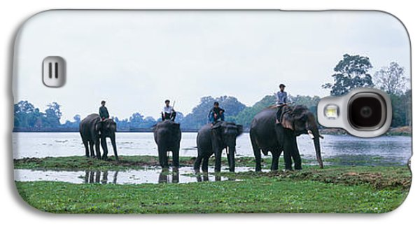 Siem Reap River & Elephants Angkor Vat Galaxy S4 Case by Panoramic Images