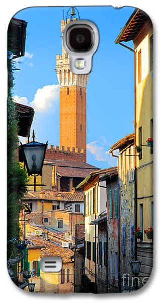 Tuscan Sunset Galaxy S4 Cases - Siena Streets Galaxy S4 Case by Inge Johnsson