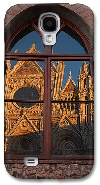 Sienna Italy Galaxy S4 Cases - Sienna Cathedral Reflection Galaxy S4 Case by Susan Rovira