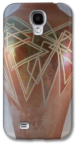 Nature Ceramics Galaxy S4 Cases - Sienna/Copper Penny Geometrics Galaxy S4 Case by Chris Tennis