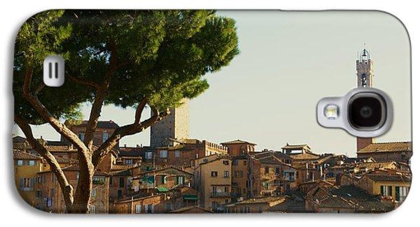 Sienna Italy Galaxy S4 Cases - Sienna Skyline Galaxy S4 Case by Barbara Stellwagen